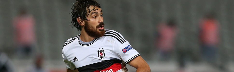 ISTANBUL, TURKEY -  SEPTEMBER 18: Veli Kavlak of Besiktas in action during the UEFA Europa League Group C match between Besiktas JK and Asteras Tripolis FC at the Ataturk Olympic Stadium in Istanbul, on September 18, 2014 in Istanbul,Turkey. (Photo by Burak Kara/Getty Images)